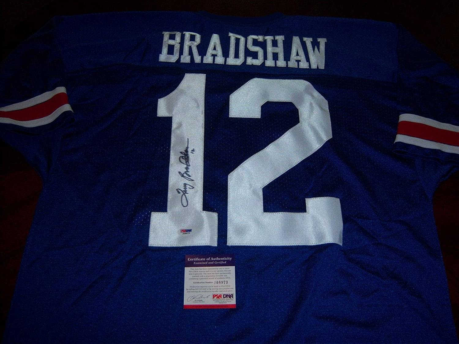 new concept 680ab 2caf1 Terry Bradshaw Lousiana Tech Signed Jersey - PSA/DNA ...
