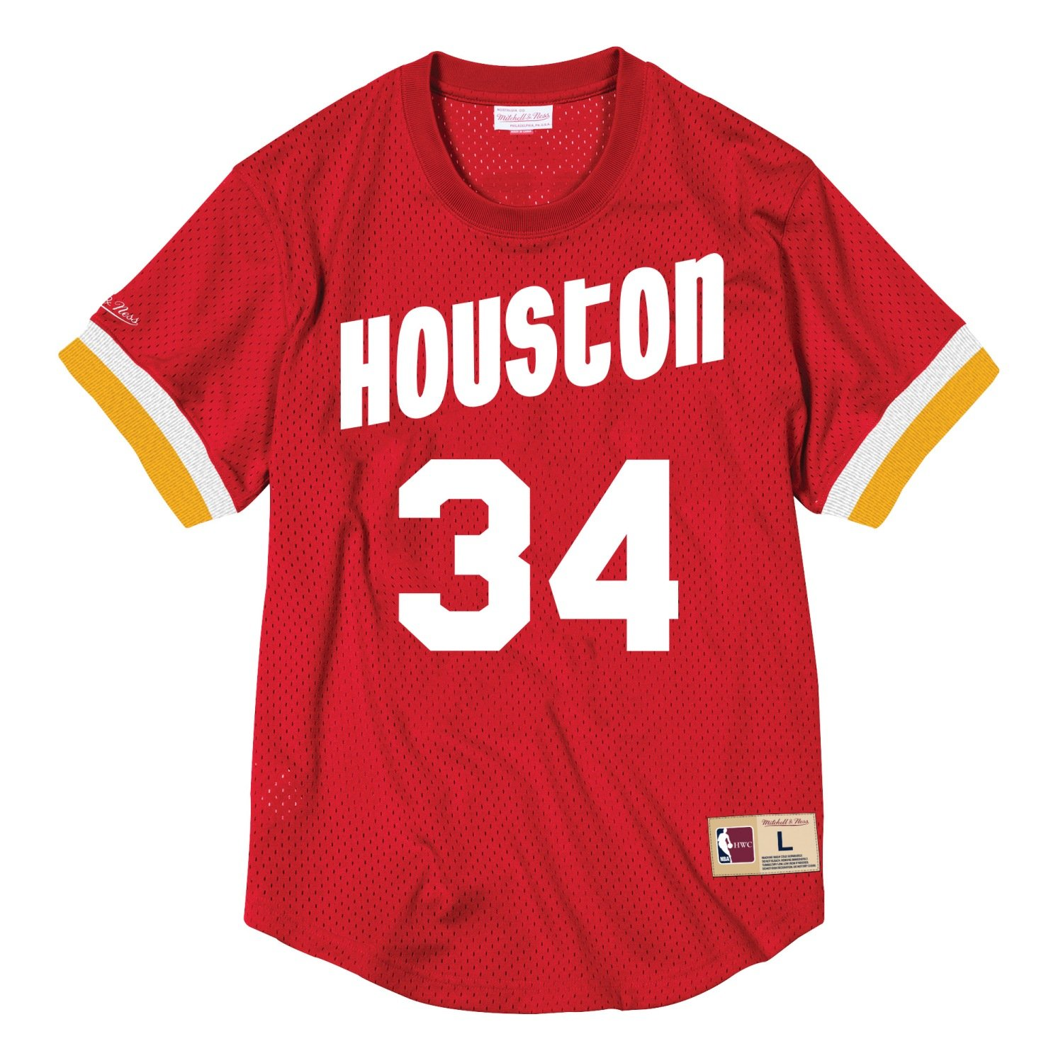 0cf590041 Mitchell   Ness Hakeem Olajuwon Houston Rockets NBA Men s Mesh Jersey Shirt  (XXX-Large)