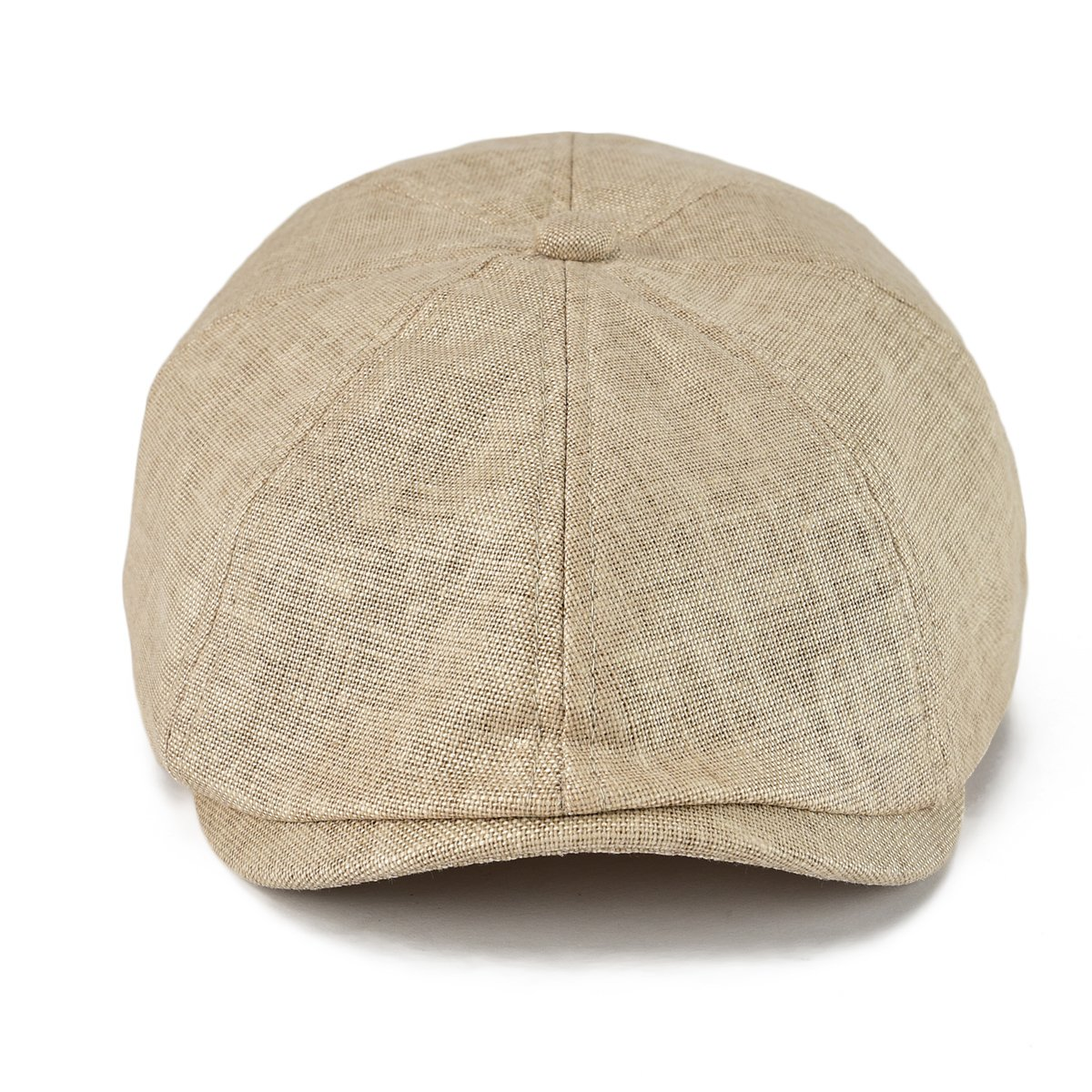 f995f1eb0d4f4 VOBOOM Men Newsboy Caps Breathable Linen Summer hat Ivy Cap Cabbie Flat Cap  MZ106 (Beige) at Amazon Men s Clothing store