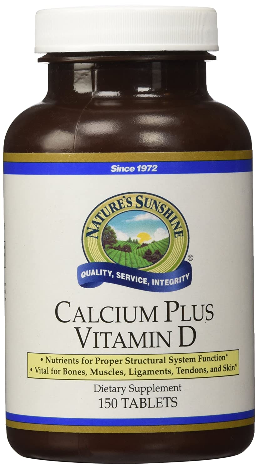 cc8888ade5db Amazon.com: Nature's Sunshine Calcium Plus Vitamin D, 150 Tablets, Kosher | Powerful  Vitamin Supplement for Adults Containing Vitamin D3, Calcium, ...