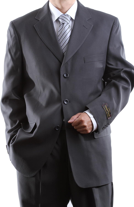 Giorgio Cerruti Mens Single Breasted Three Button Gray Dress Suit