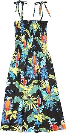 12d79cd9310 RJC Womens S - XL Jungle Parrot Elastic Tube Top Sundress at Amazon ...