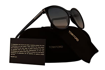 bd2947237c Image Unavailable. Image not available for. Color  Tom Ford FT0568  Geraldine-02 Sunglasses Havana w Blue Gradient Beige Lens ...