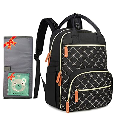 Boy Stroller Straps and Changing Pad Diaper Bag for Mom Black Diaper Bag Women Backpack Frank Mully Large Diaper Bag Backpack with Insulated Pockets Girl