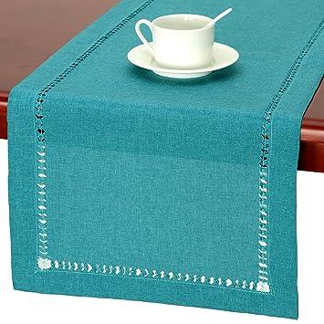 Superbe Amazon.com: GRELUCGO Handmade Hemstitch Teal Table Runner Dresser Scarf,  Rectangular 14 By 36 Inch: Home U0026 Kitchen