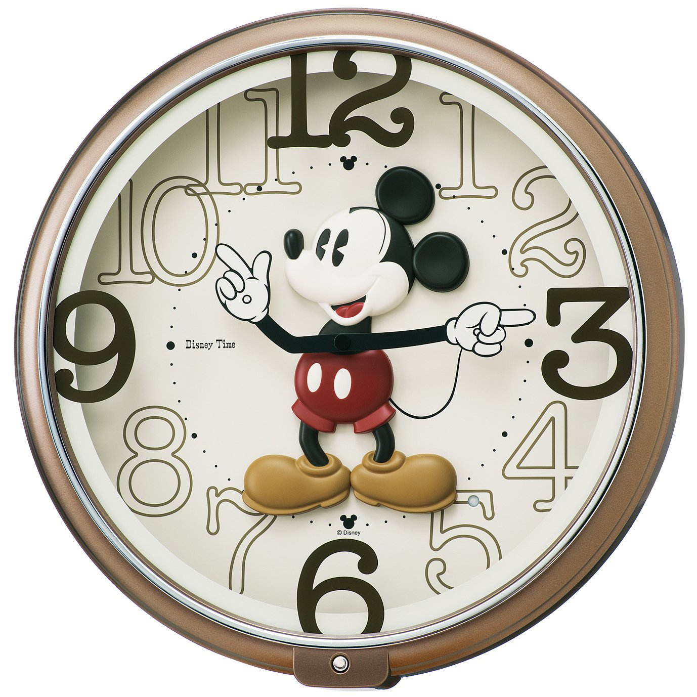セイコー クロック 掛け時計 ミッキーマウス アナログ 6曲 メロディ ミッキー&フレンズ Disney Time ディズニータイム 茶 メタリック FW576B SEIKO B015CELP0W