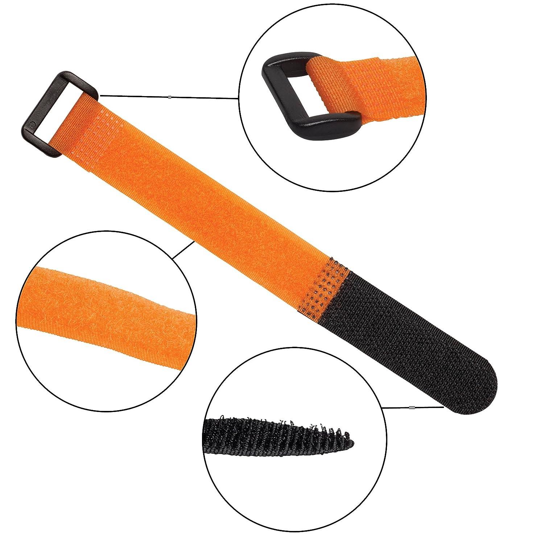Arancione Purovi Fascette con Chiusura a Strappo per Raggruppare Cavi 25 Pezzi