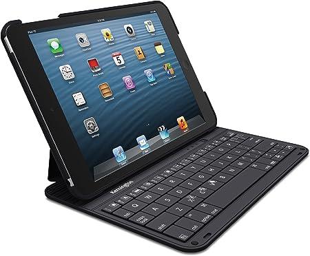 Kensington KeyFolio Thin - Funda para Tablet Apple iPad Mini y Mini Retina (Teclado inalámbrico Bluetooth), Negro