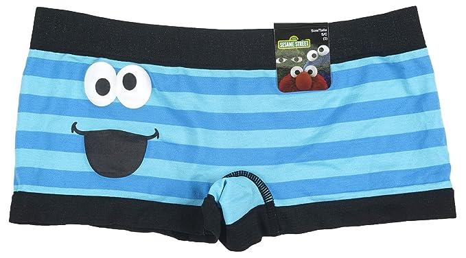 818c69baeb82 Sesame Street Cookie Monster Stripes Boyshort Panties at Amazon ...