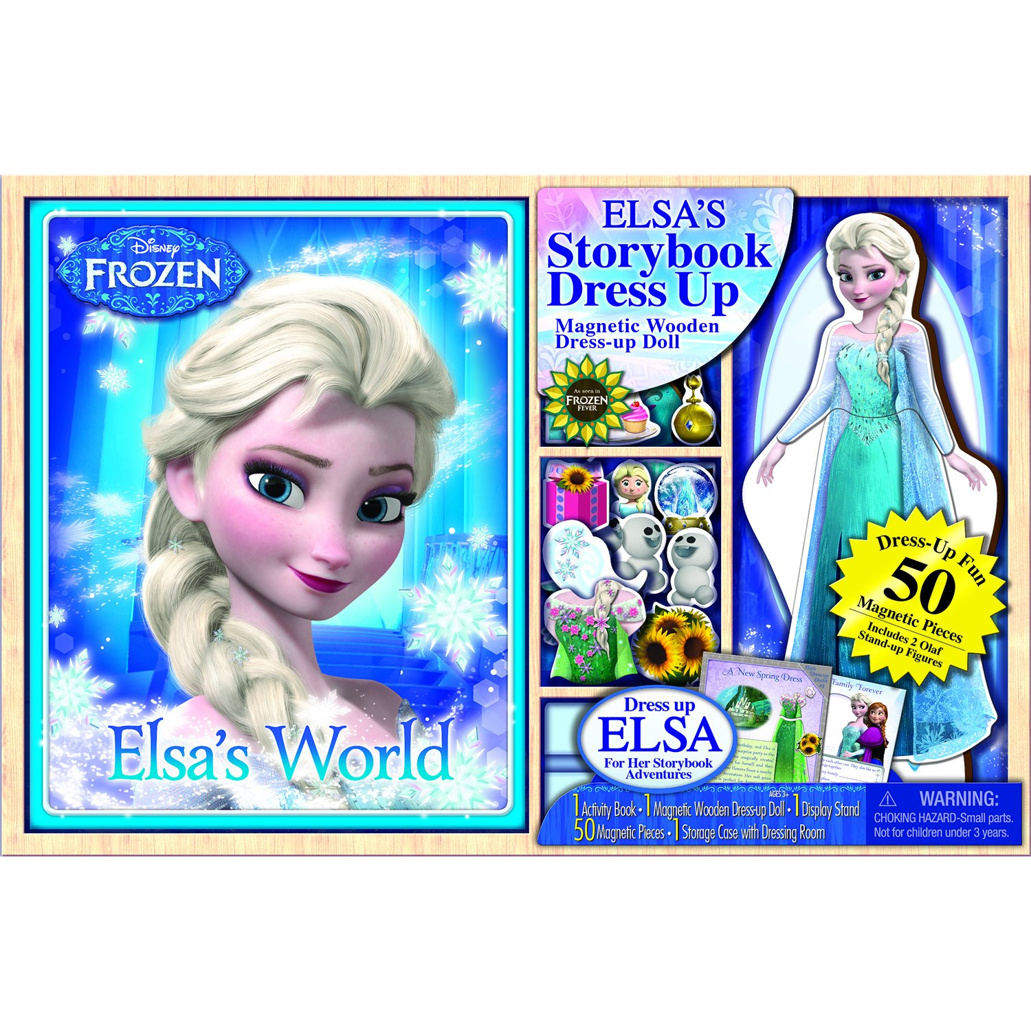 Bendon Disney Frozen Wooden Doll with Puffy Book
