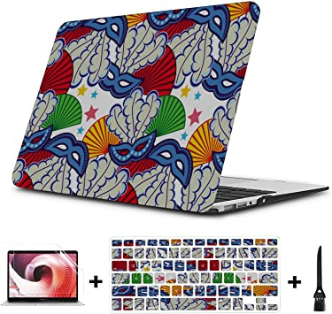 Macbook Air 2017 Funda Misteriosa Moda Pintura Colorida Plástico Carcasa Dura Compatible Mac Air 11