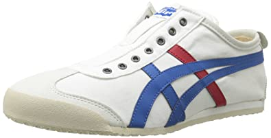 uk availability a13c3 12ebb Asics Mens Onitsuka Tiger Mexico 66 Slip-On Shoes, 9 UK, White/Tricolor