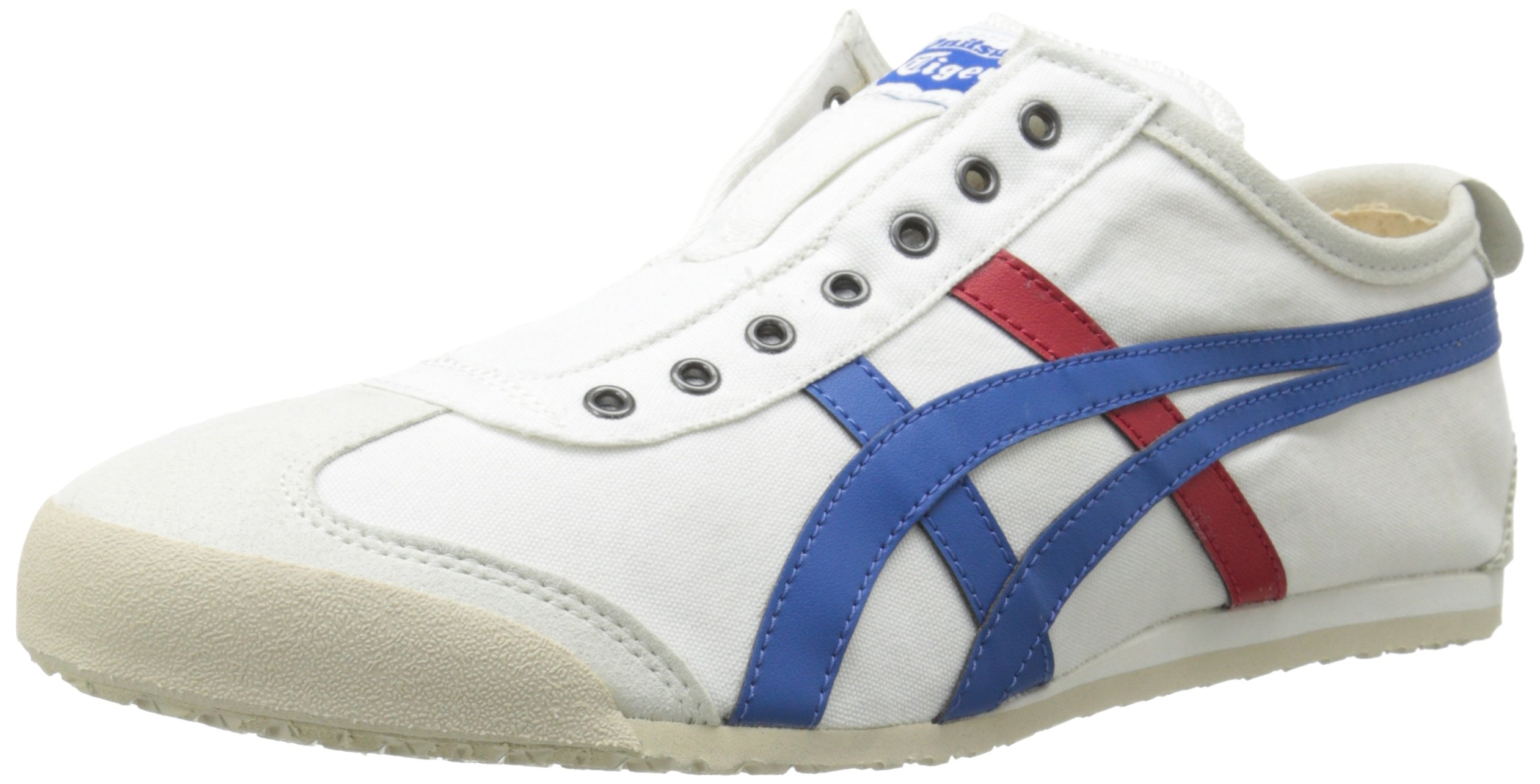 Onitsuka Tiger Unisex Mexico 66 Slip-on Shoes D3K0N, White/Tricolor, 9.5 M US by Onitsuka Tiger (Image #1)