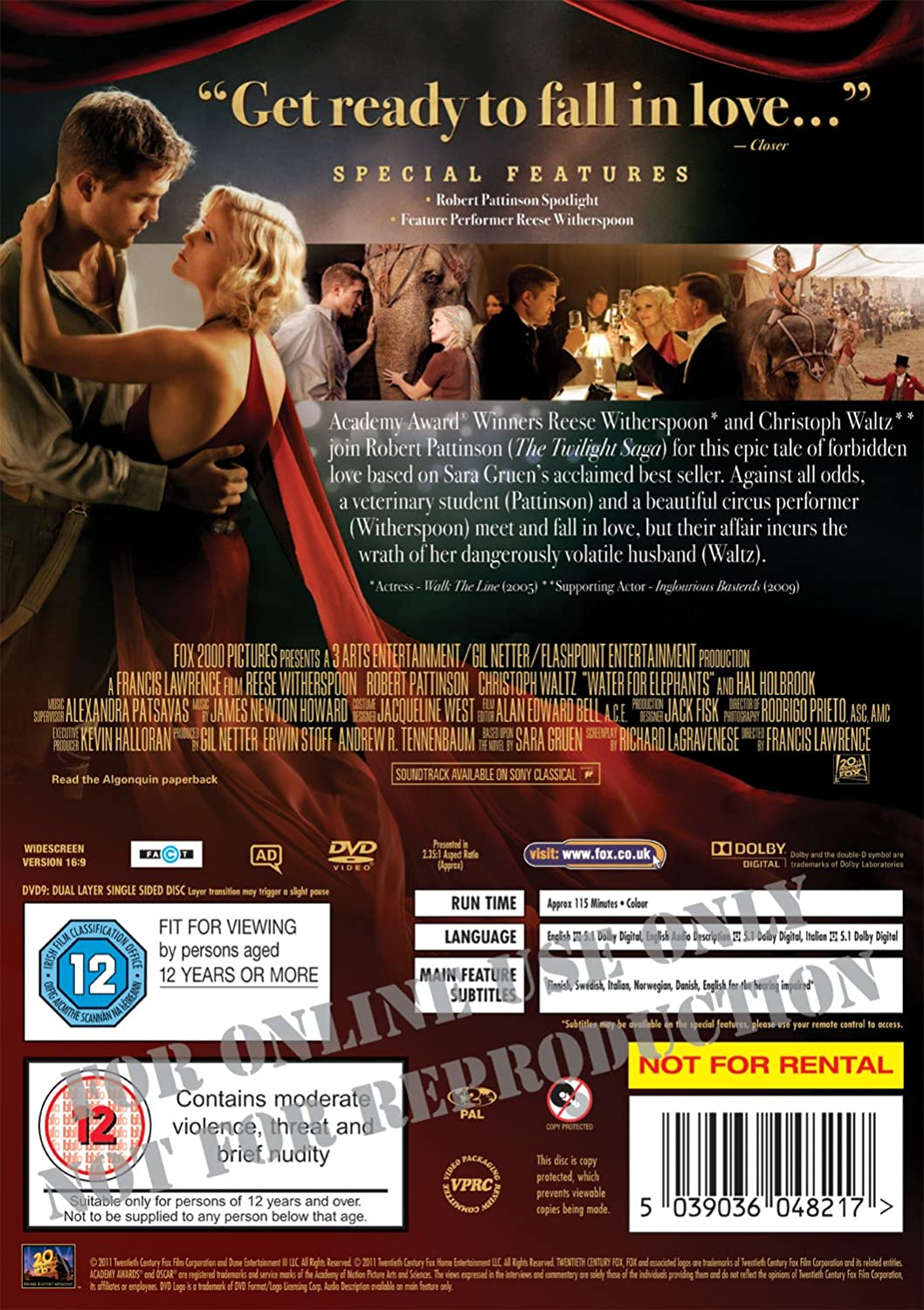 Reino Unido Edizione: Regno Unito ITA SUB Water For Elephants