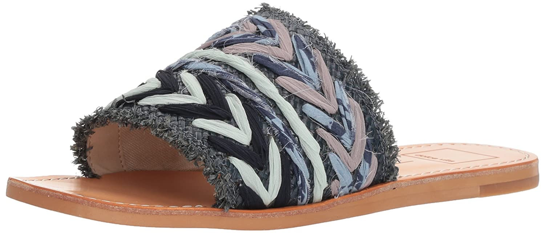 Dolce Vita Women's Corey Slide Sandal B077QJ3L7G 10 B(M) US Blue Multi Raffia