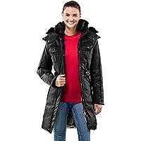 Vincenzo Boretti chaquetón Invierno de Mujer, Acolchado Caliente para temperaturas bajo Cero, Ribete de Piel sintética…