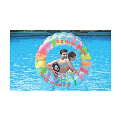 "Jilong Water Wheel - Giant Inflatable Swimming Pool Water Wheel Toy (49.2"" X 33""): Toys & Games"