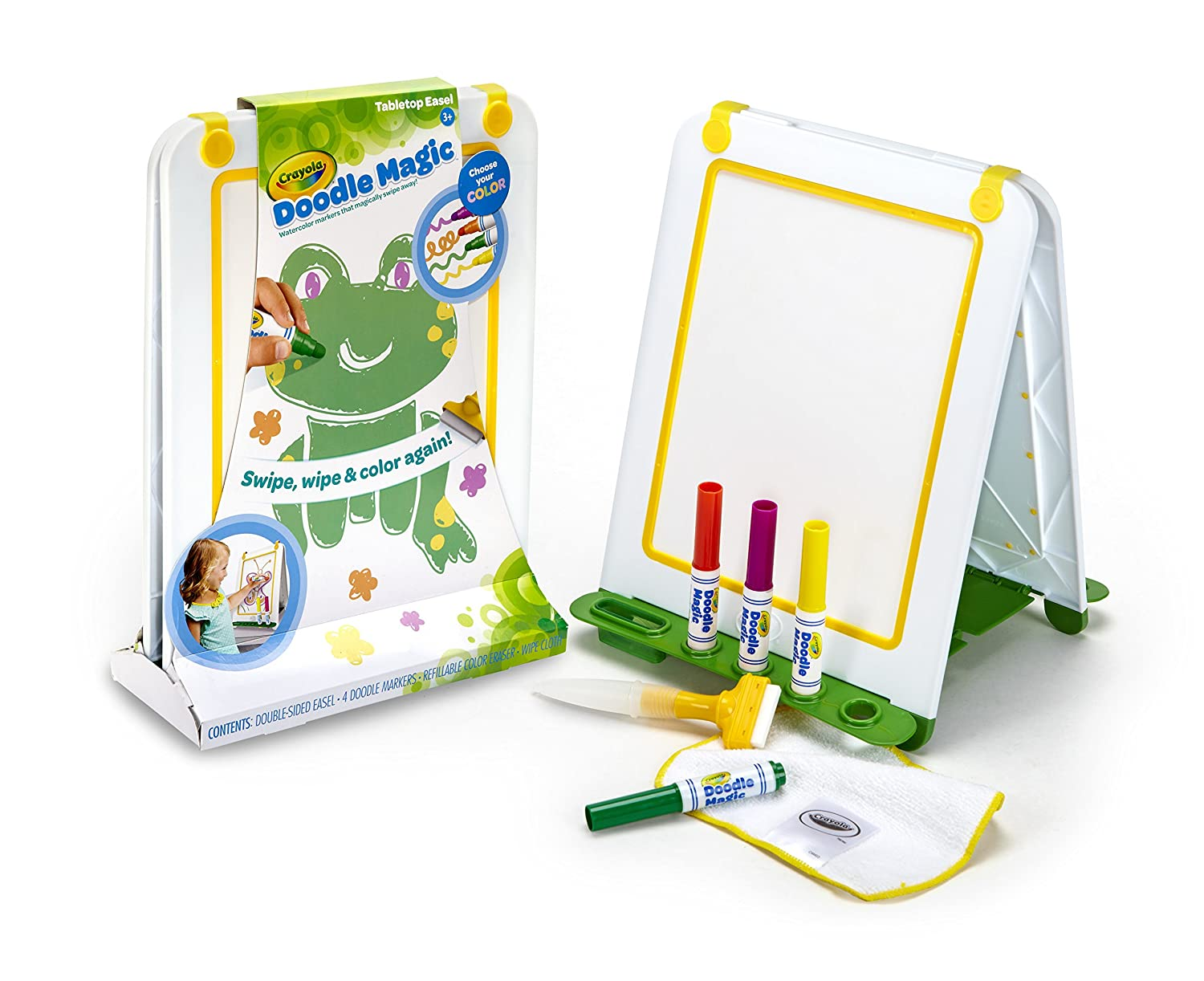 Crayola Doodle Magic Tabletop Double Sided Easel with 4 ColouROT Markers