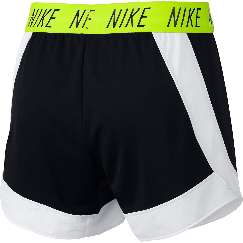NIKE Womens Attack Dry Training Shorts Black//White, S