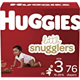 Diapers Size 3 - Huggies Little Snugglers Disposable Baby Diapers, 76ct, Giga Pack