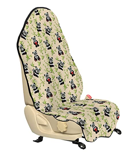 Strange Amazon Com Lunarable Panda Car Seat Hoody Big Bamboo Squirreltailoven Fun Painted Chair Ideas Images Squirreltailovenorg