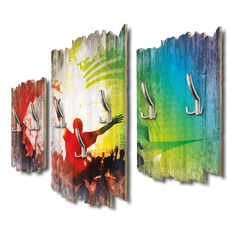 Kreative Feder Dancing Crowd Designer Wandgarderobe Flurgarderobe Wandpaneele 95 x 60 cm aus MDF DTGH128