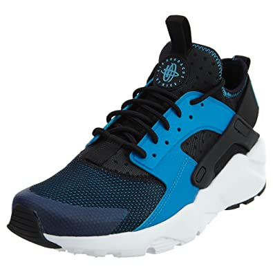 super popular a8ba6 54eaa Nike Mens Air Huarache Run Ultra Blue Lagoon White-Black Mesh Size 9.5