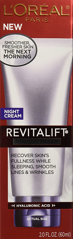 L Or al Paris Revitalift Volume Filler Night Cream, 2 fl. oz.