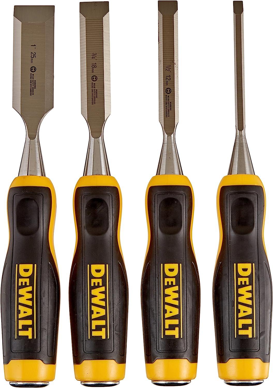 3. Dewalt DWHT16063 Short Blade Wood Chisel 4 Pc Set