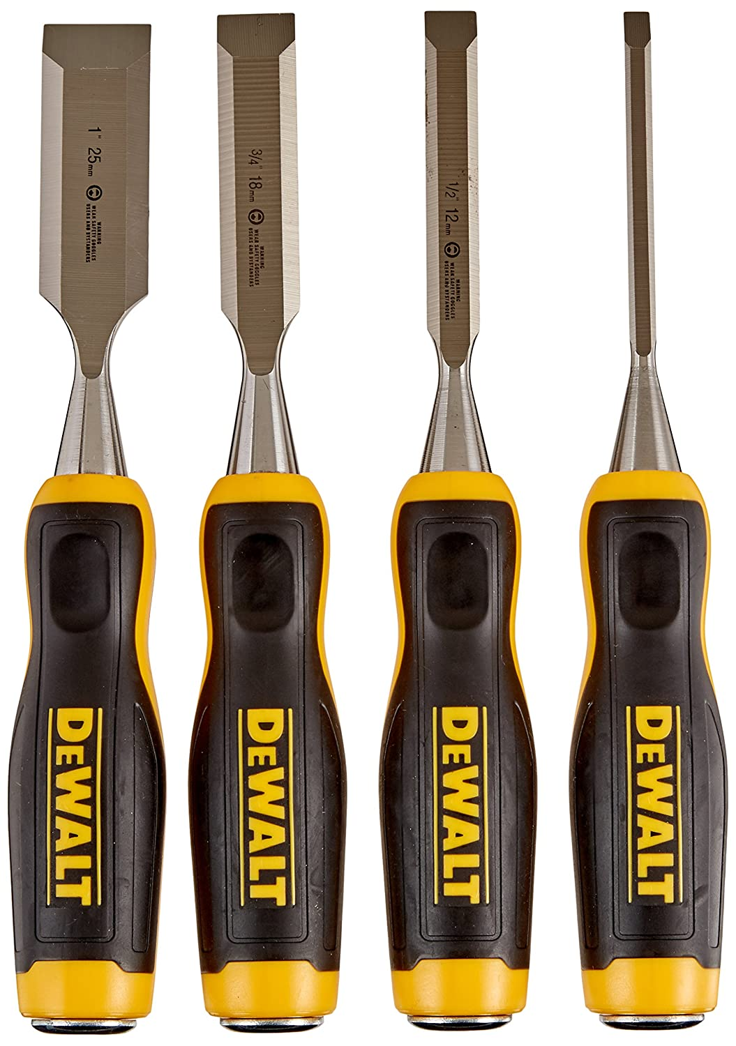 DEWALT DWHT16063 Short Blade Wood Chisel 4piece set