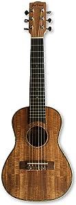 Glass House Koa and Ebony Guilele, Flagship Model with Koa Top/Ebony Back and Sides, 6-String Guitar/Ukulele with Nylon Strings