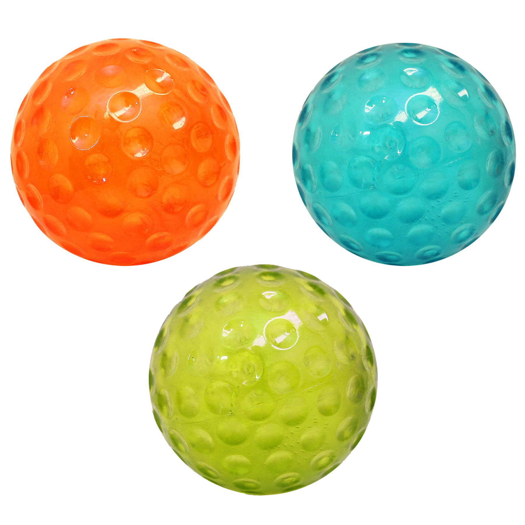 Boss Pet Chomper extra tough & Colorful Large TPR 5'' Dimpled Ball - Size Toy