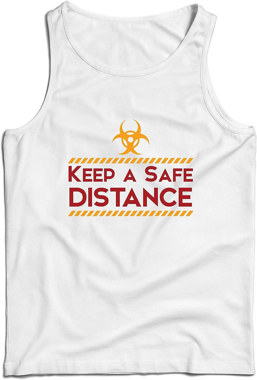 lepni.me Camisetas de Tirantes para Hombre Abrazo de Distanciamiento Social Emoci/ón de Cuarentena Qu/édate en Casa