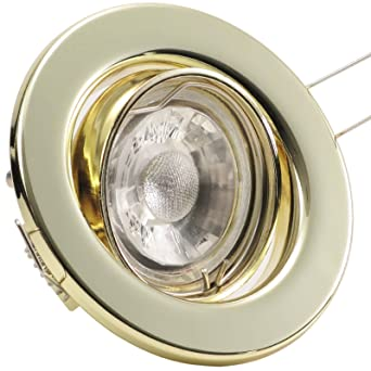 5x SET LED EINBAULEUCHTE SCHWENKBAR INKL LEUCHTMITTEL 3W COB LEDs GU10 230V