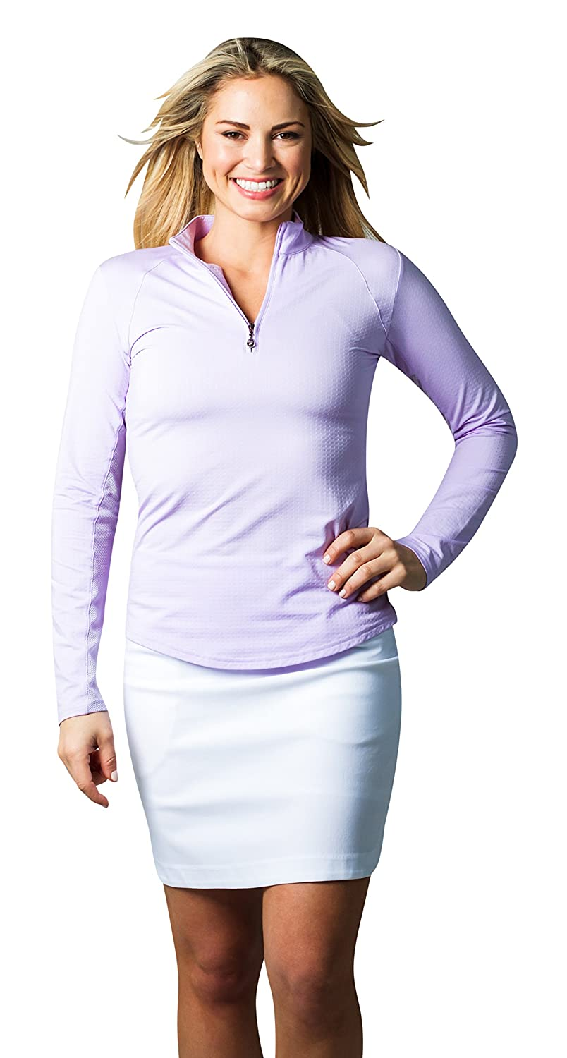 SanSoleil Womens SolTek Ice UV 50 Zip Mock purplec