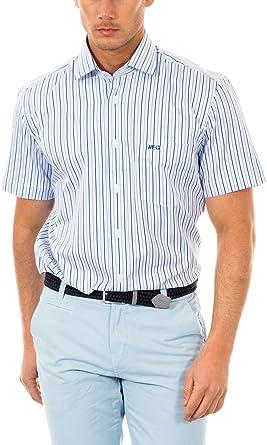 McGregor Camisa Hombre Gil Smith BT Nbd RF SS Blanco/Azul M: Amazon.es: Ropa y accesorios