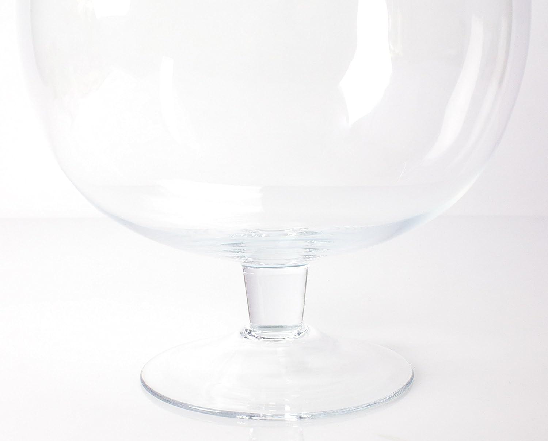 38cm Kugelvase // Brandy Glas LIAM mit Fuß Ø29cm klar Glasvase // Dekoglas