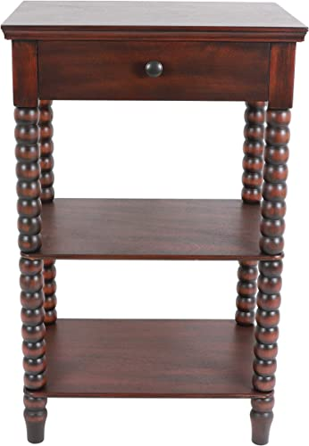 Decor Therapy Spindle Side table, Vintage Cherry