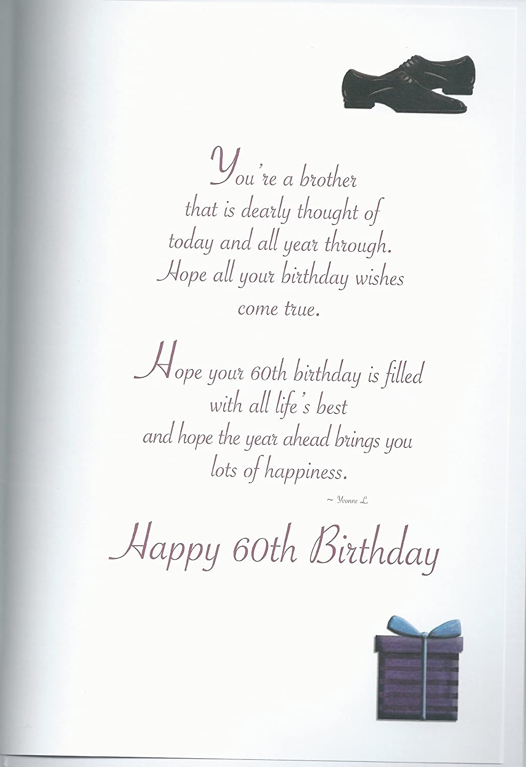amazoncom special for you brother happy 60th birthday card home kitchen