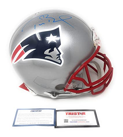 c609ea19f Tom Brady New England Patirots Signed Autograph Full Size Proline Authentic  Helmet Blue Ink Tristar Authentic