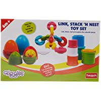 Giggles Link, Stack and Nest Toy Set,Multicolor