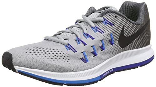 Nike Men's Air Zoom Pegasus 33 Running Shoes, Grey (Wolf Grey/Black/
