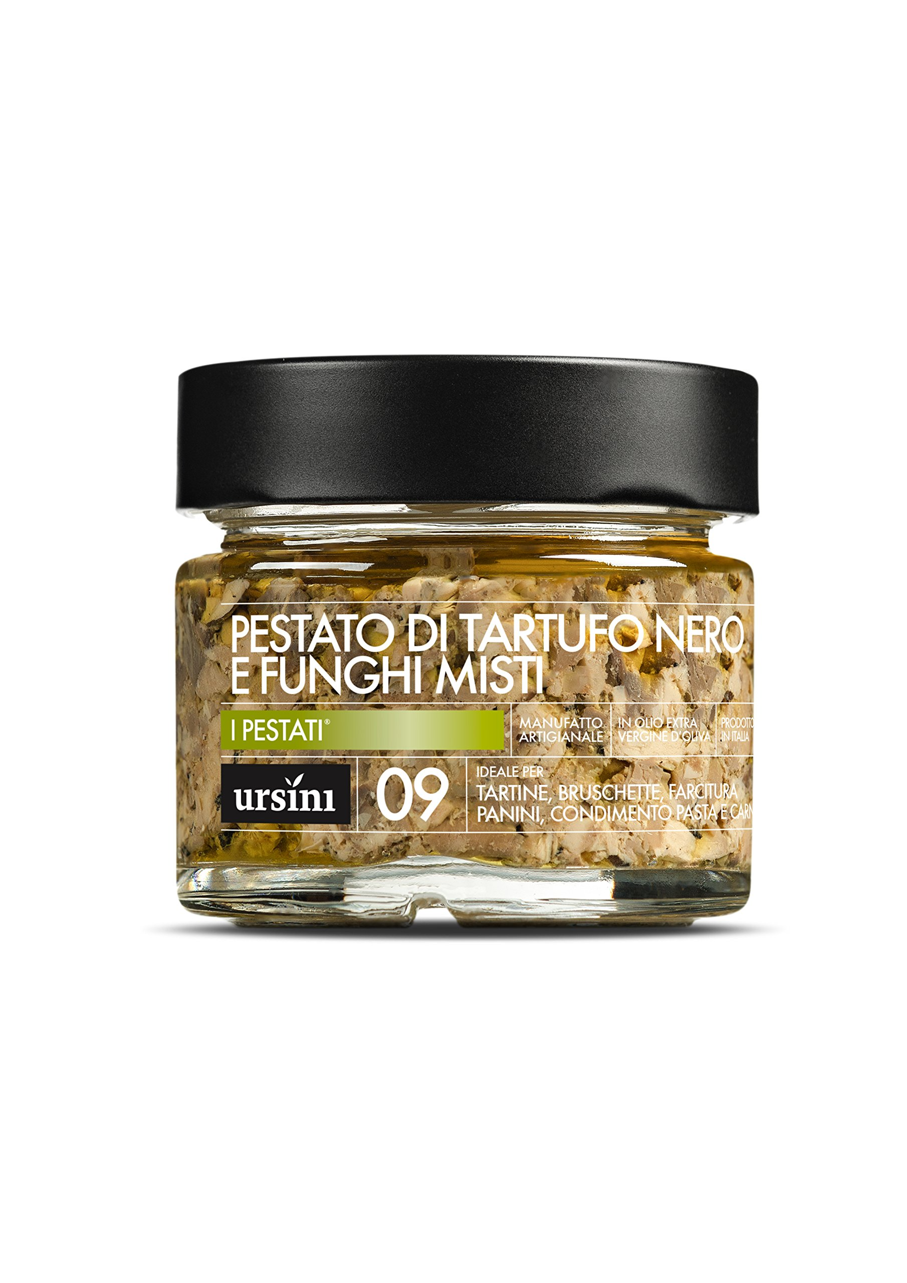 URSINI Black Truffle and Mushrooms Mix Pesto Spread (5.1oz) by Ursini (Image #1)