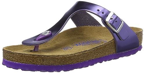 bfe3928bb687 Birkenstock Gizeh Natural Leather Soft Footbed Metallic Violet ...