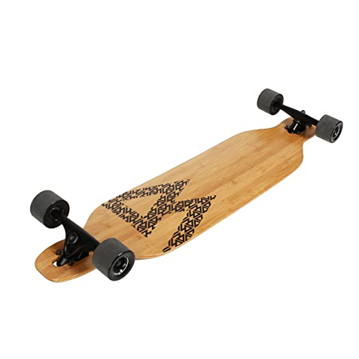 Magneto Longboard Bamboo /& Fiberglass Drop Through Longboard Cruiser