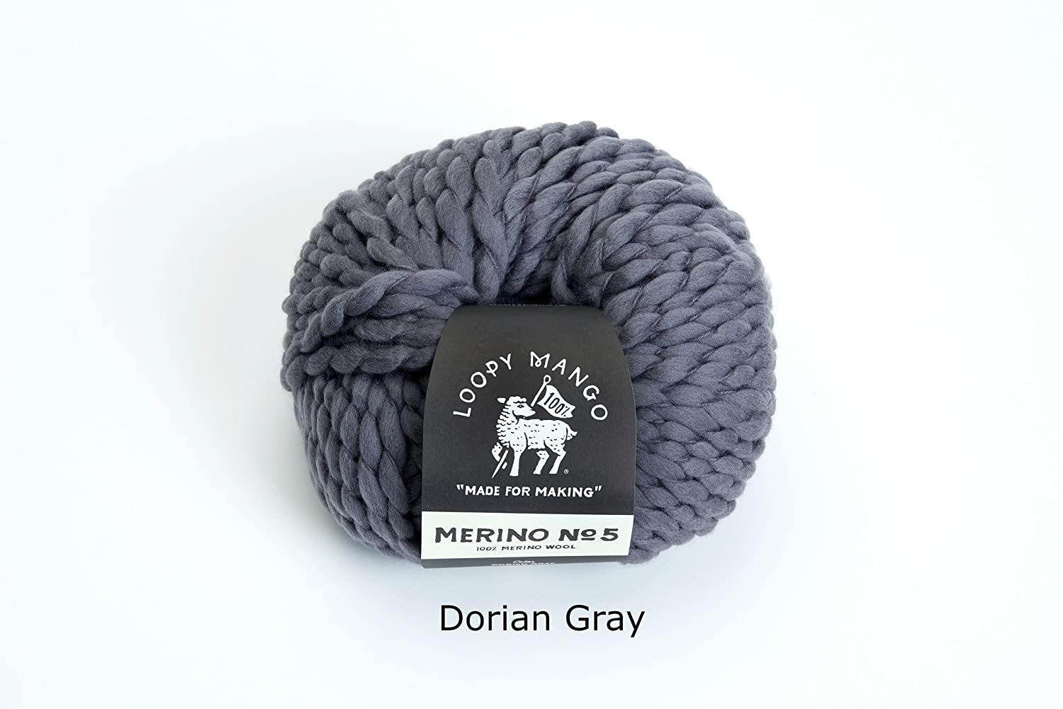 Dorian Gray Loopy Mango DIY All You Knit Kit My First Scarf