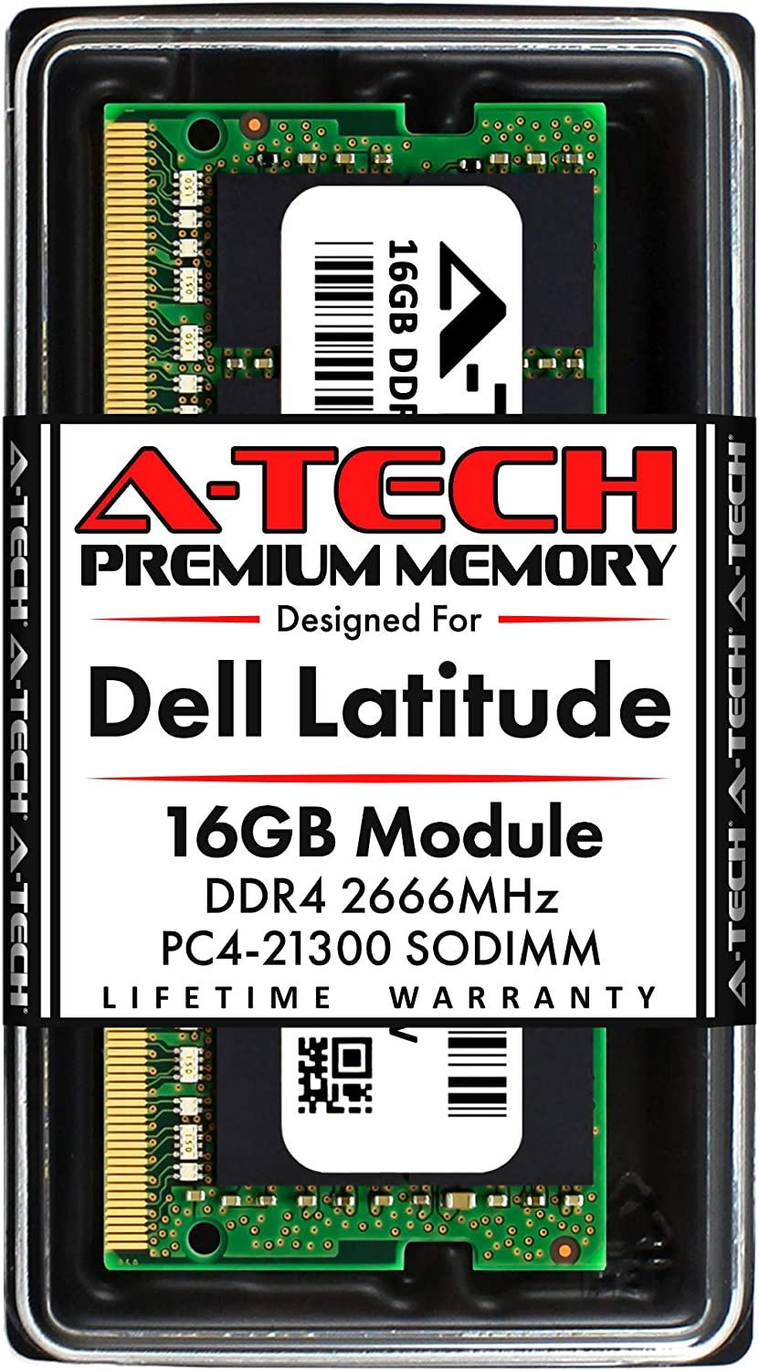 A-Tech 16GB RAM for Dell Latitude 5591, 5501, 5491, 5401 | DDR4 2666MHz SODIMM PC4-21300 Laptop Memory Upgrade Module