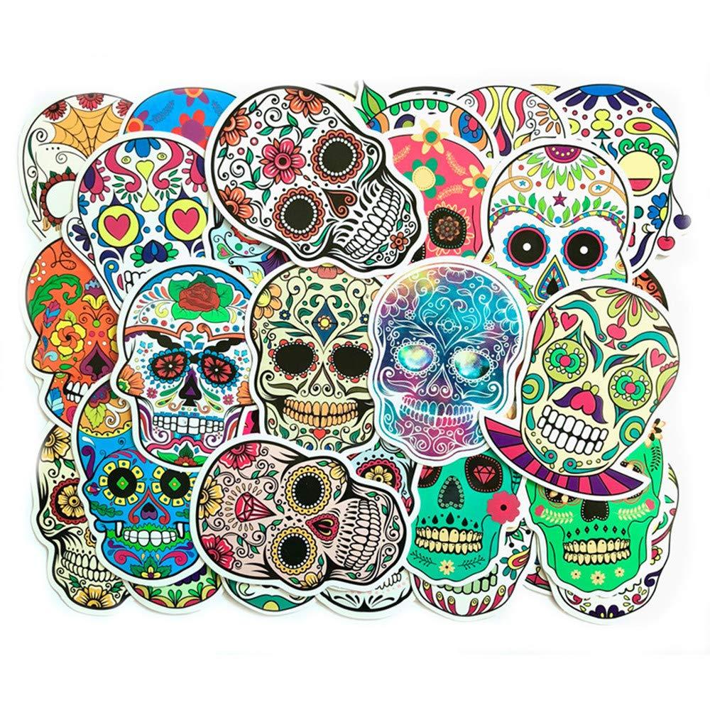 Stickers Calcos 50 Un. Calaveras Origen U.s.a. (7n1sr79y)