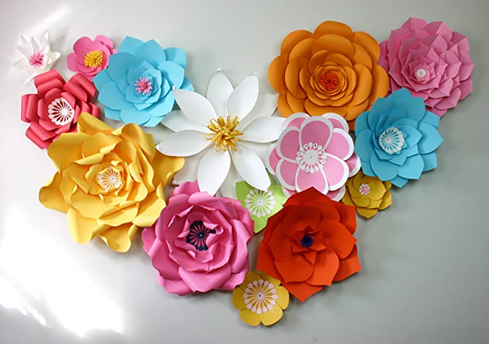Amazon Com Paper Flower Backdrop Giant Paper Flowers Wall Paper