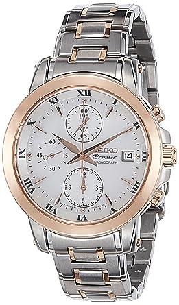 Seiko Reloj Cronógrafo para Mujer de Cuarzo con Correa en Acero Inoxidable SNDV68P1: Amazon.es: Relojes